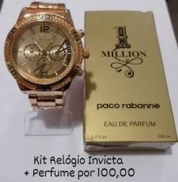 Kit Relógio e Perfume 100 ML  - Atacado e Varejo