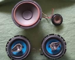 2 Alto-falantes Buster BST 6963 BSLT-633 + 1 outro Alto-Falante