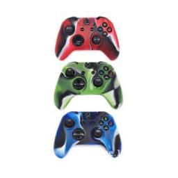 Capa de Silicone para Controle do Videogame Microsoft Xbox One + 2 Grips