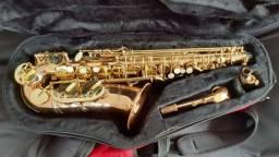 Título do anúncio: Saxofone sax alto Dakapo profissional com boquilha de metal profissional