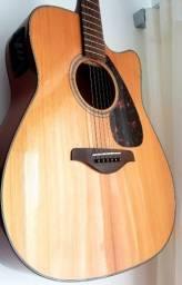 Violão Yamaha FGX800C Lindíssimo com som perfeito