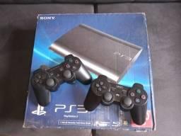 PS3 Slim 2 controles e vários jogos