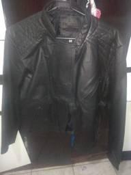 Jaqueta de couro nova feminina