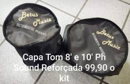 Kit Capa tom 8'e 10' Ph sound reforçada