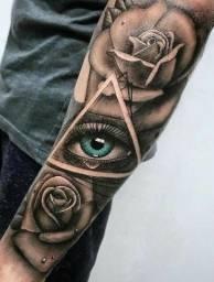 Tatuagem a domicílio como essa na foto sai 250$ aproveite