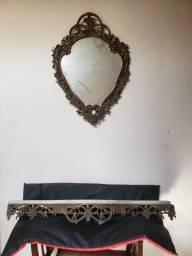 Vendo espelho e console de parede
