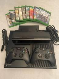 Xbox one com kinect e 9 jogos (mídia física)