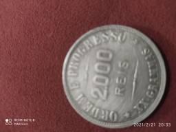 Vendo pra para colecionador moeda de Prata r$ 2000 de 1907
