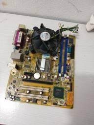 Placa-mãe DDR3 soquete 775 + Processador + Cooler