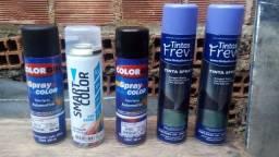 5 Tintas spray incluindo automotivas e verniz (leia a descrição)