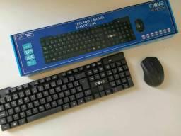 Teclado e mouse sem fio wireless inova