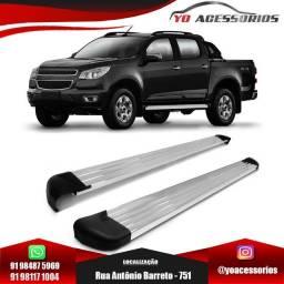 Estribo S10 Cabine Dupla 2013 a 2020 Alumínio Anodizado modelo track