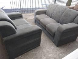 Jogo de sofá cinza - entregamos