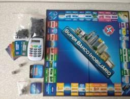 Banco imobiliário com máquina de cartão da marca estrela (original) -aceito cartão