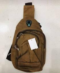 Lindas mochilas transversais 25 cm várias cores