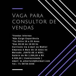 VAGA PARA CONSULTOR(A) INTERNO!!