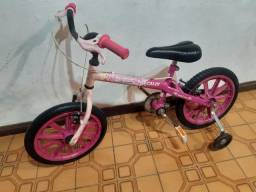 Bike Caloi aro 16 feminina com. Rodinhas
