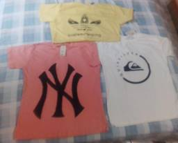 Kit camisa estampas várias cores