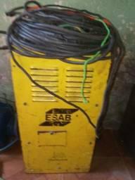 Vendo maquina de solda + maquina de cortar madeira + portão de enrolar.. ligue p *