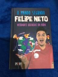 Título do anúncio: Livro o mundo segundo Felipe neto, em perfeito estado