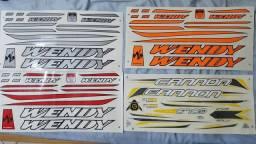 Cartela de adesivo Wendy para bike, 24, 26 e 29