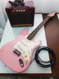 Guitarra Eagle Stratocaster + Caixa amplificada Meteoro