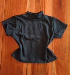 Blusa tecido canelado confort