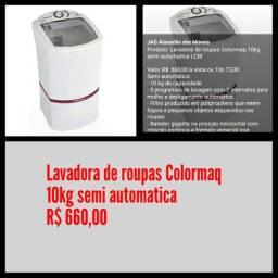 Lavadora de roupas Colormaq 10kg