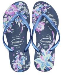 Chinelo Havaianas Feminino Slim Organic Sandálias Original Azul