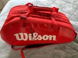Raqueteira Wilson Super Tour X15 Vermelha