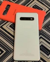 Samsung S10 - 128GB - Sem marcas de uso - Nota Fiscal e acessórios originais