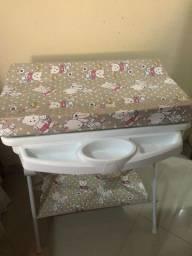 Título do anúncio: Banheira de bebê Galzerano com trocador luxo Ursinha