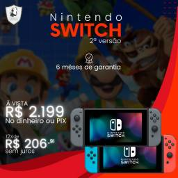 Nintendo Switch 2ª versão - Novo c/ garantia