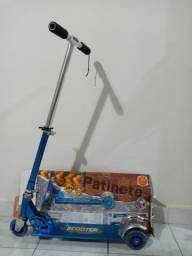 Vende-se patinete/scooter infantil dobrável, com altura ajustável e de alumínio
