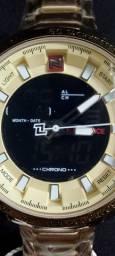 Relógio Dourado Naviforce NF9093M