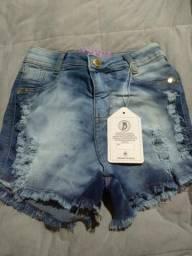 Roupas feminina shorts jeans novo