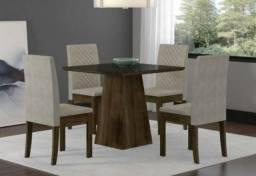 Super Oferta: Mesa de Jantar Cristal com 4 Cadeiras - R$899,00