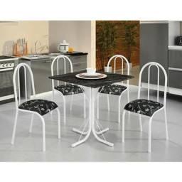 Mesa Para Cozinha com 4 Cadeiras Madmellos - Pronta Entrega