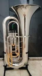 Tuba Sinfonica Weril J981 Sib - Prata com ouro - Aceito trocas - Parcelo 12x