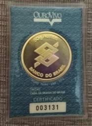 Moeda de ouro 999 50g