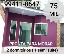 75 Mil - Casa 2 dormitórios no Monte das Oliveiras