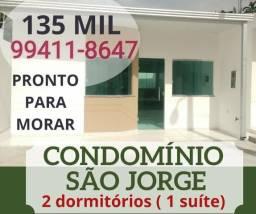 135 Mil - Casa na Vila da Prata 2 dormitórios (1 suíte) proximo ao CIGS