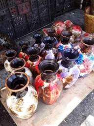 Conj.de vasos lindos feito em argila cerâmica para mais informações