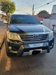 Hilux srv 4x4 flex automática 2012 completa preta