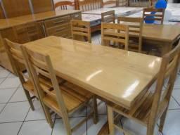 Oferta !!! Mesa de 2,00 metros com 06 cadeiras madeira maciça cerejeira