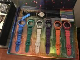 Relógio champion Marine troca pulseiras raridade sem uso só 250