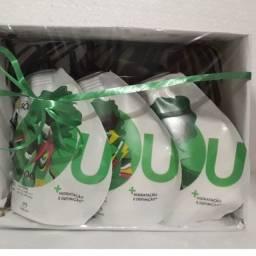 SOU Natura Kit Presente Shampoo, Condicionador e Máscara. 200ml cada. (À pronta entrega)