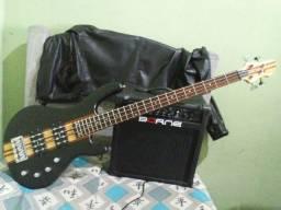 Baixo eagle egb 5000 + Amplificador Borne Baixo Impact Bass Cb80