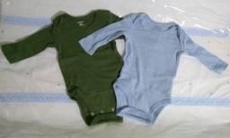 Kit com 2 Bodies Carters - Bebês de 0 a 3 meses - Importado
