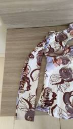 Blusa de manga longa Lurex